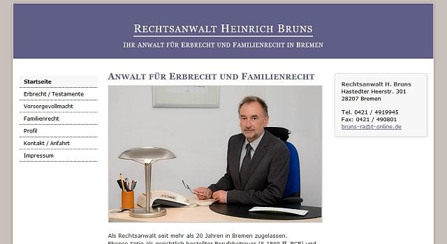 webdesign anwalt bruns bremen