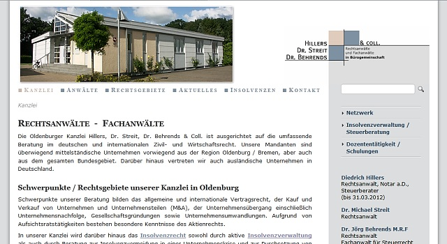 webdesign anwalt oldenburg