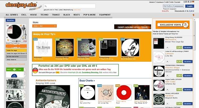 webdesign deejay vinyl