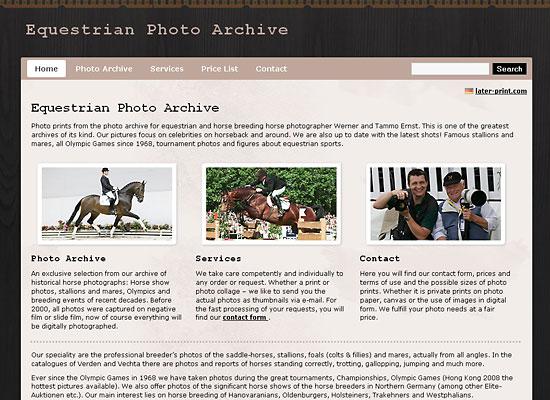 webdesign equestrian photo
