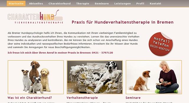 webdesign hundetrainer bremen