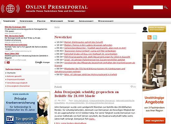 webdesign online presse