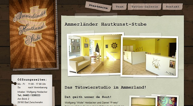 webdesign tattoo studio