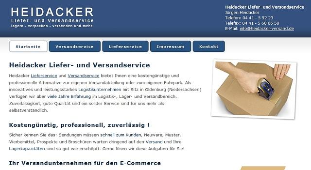 webdesign versandservice