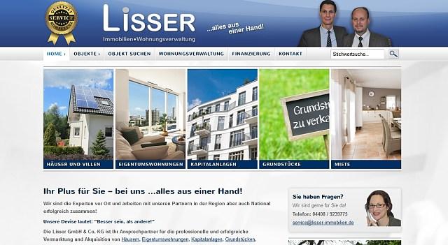 webdesign lisser immobilien