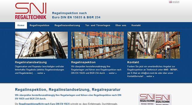 webdesign sni nord regalinspektion