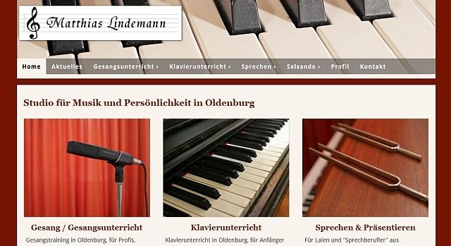 webdesign klavierunterricht oldenburg