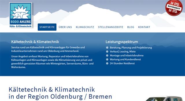 webdesign kaeltetechnik oldenburg