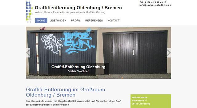 Graffitientfernung Oldenburg Bremen Hochdruckreingung