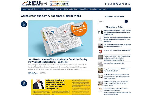 Webdesign Malerarbeiten Hannover