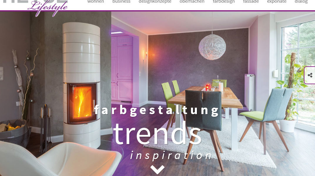 Webdesign Heyse Lifestyle Malerarbeiten Hannover