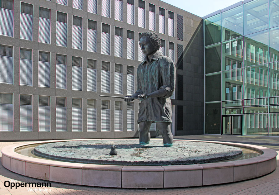 Oldenburg Mann im Matsch