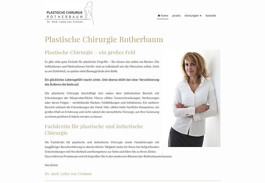 Webdesign Plastische Chirurgie Hamburg Rotherbaum