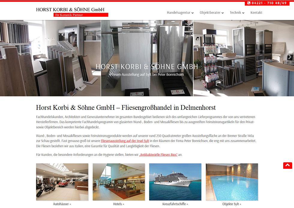 Webdesign Fliesengrosshandel Delmenhorst WordPress