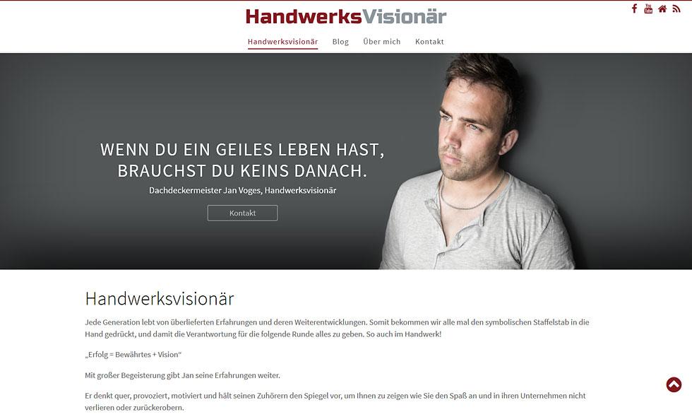Webdesign Handwerksvisionaer Handwerk WordPress Hildesheim Hannover