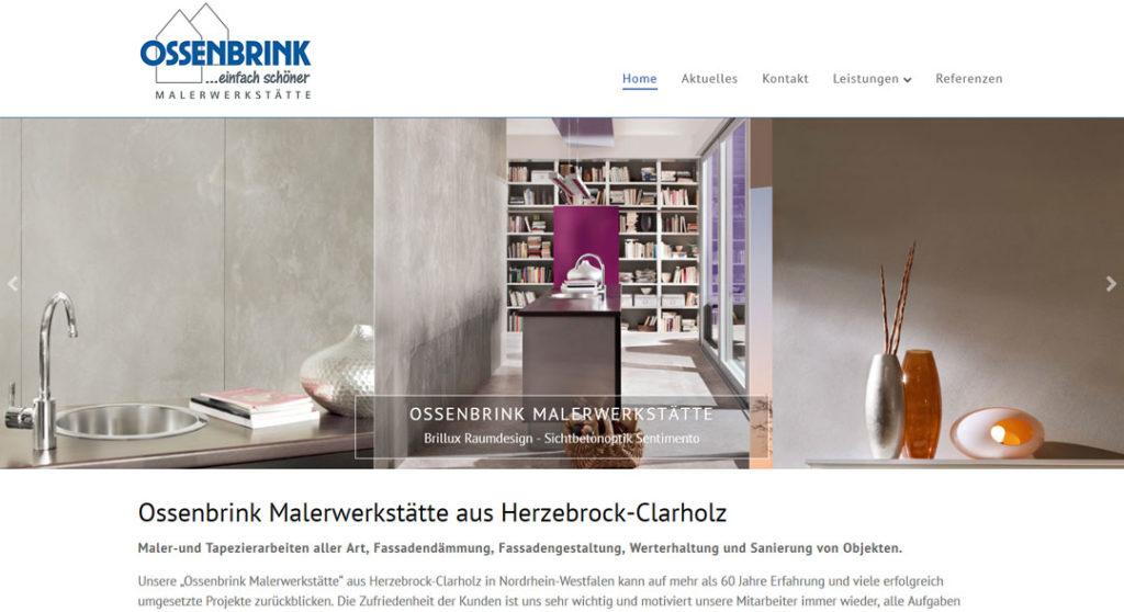 WordPress Webdesign Ossenbrink Malerwerkstaette Herzebrock