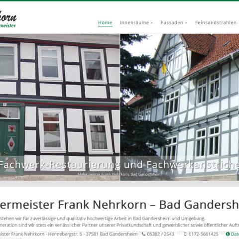 Webdesign Malermeister Frank Nehrkorn in Bad Gandersheim