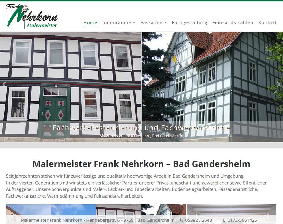 WordPress Webdesign Malermeister Nehrkorn Bad Gandersheim