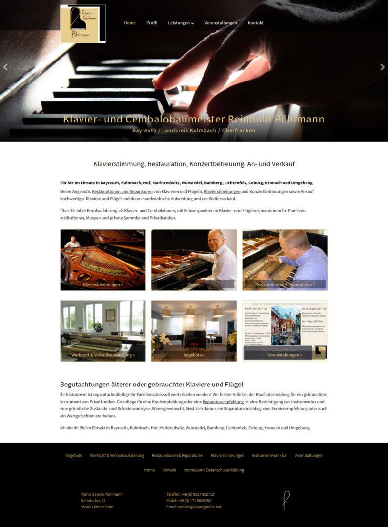 Webdesign Handwerk Klavierbaumeister Bayreuth