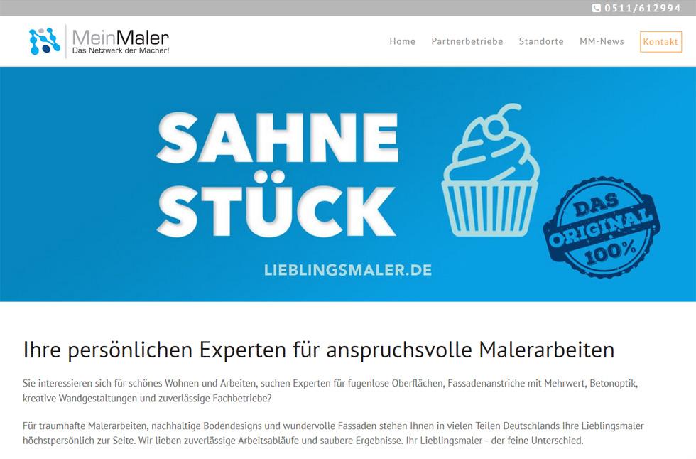 Webdesign Malerbetriebe Lieblingsmaler Hannover