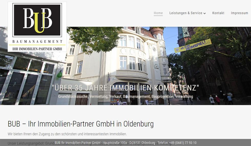 Webdesign Immobilienmakler Oldenburg