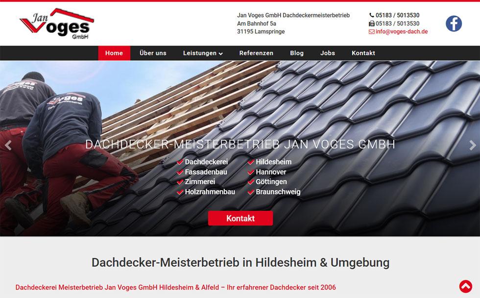 Webdesign Dachdecker Hildesheim
