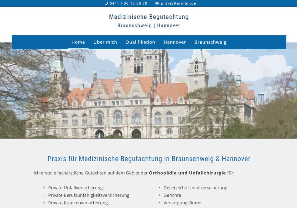 Medizinische Begutachtung Braunschweig Hannover Arzt Webdesign