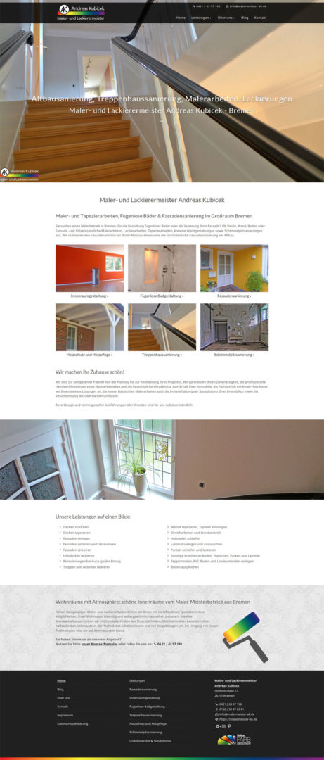 Malerbetrieb Bremen Oldenburg Webdesign