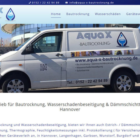 Aqua X Bautrocknung Hannover Webdesign WordPress 2