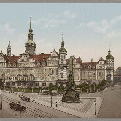 Dresden Das Schloss um 1900