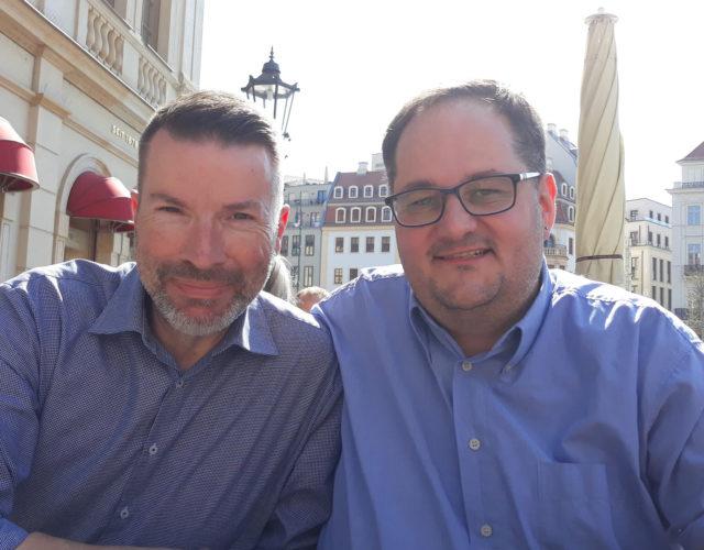 Klaus und Frank in Dresden