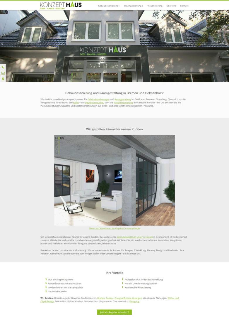 Becker Konzepthaus Delmenhorst Bremen Webdesign