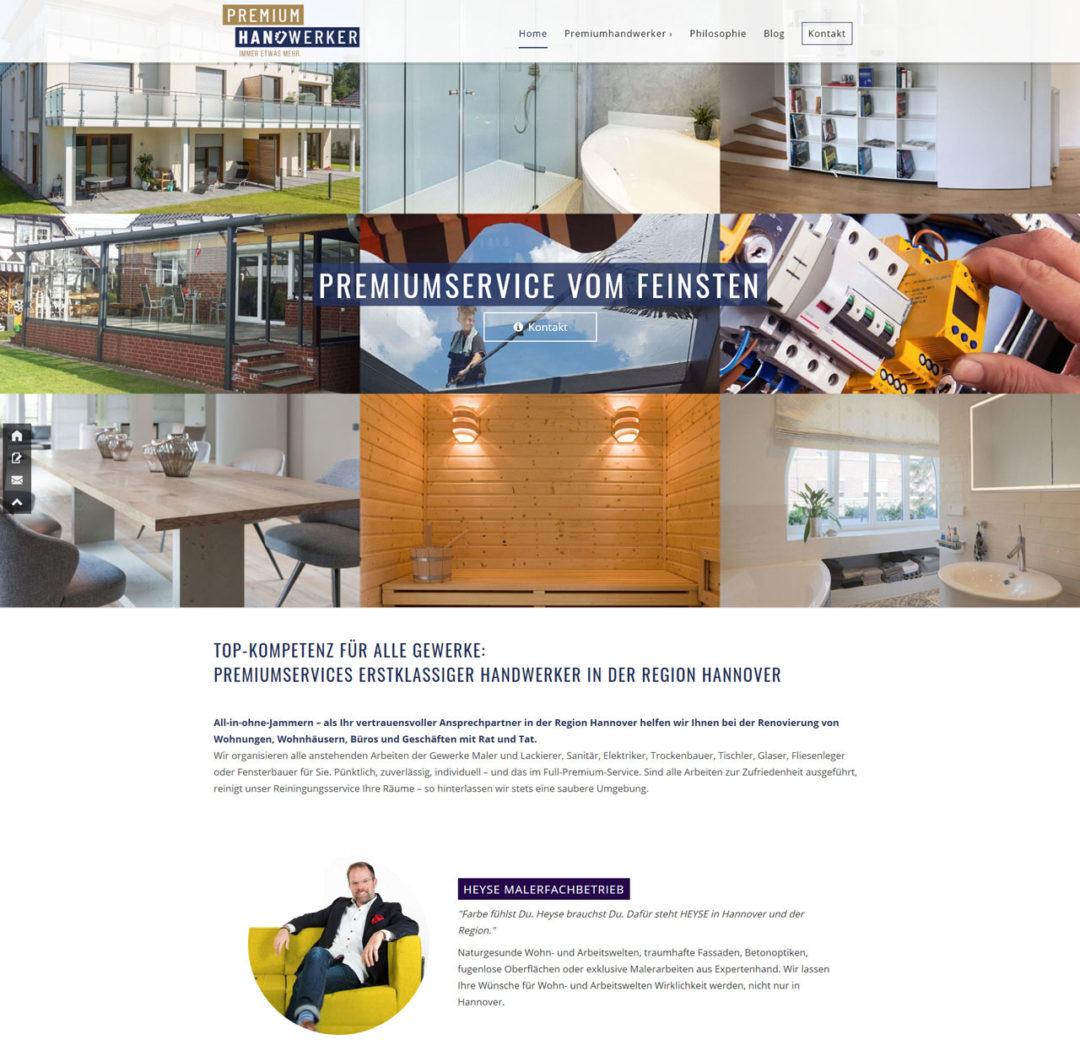 Premiumhandwerker Hannover Webdesign WordPress 1