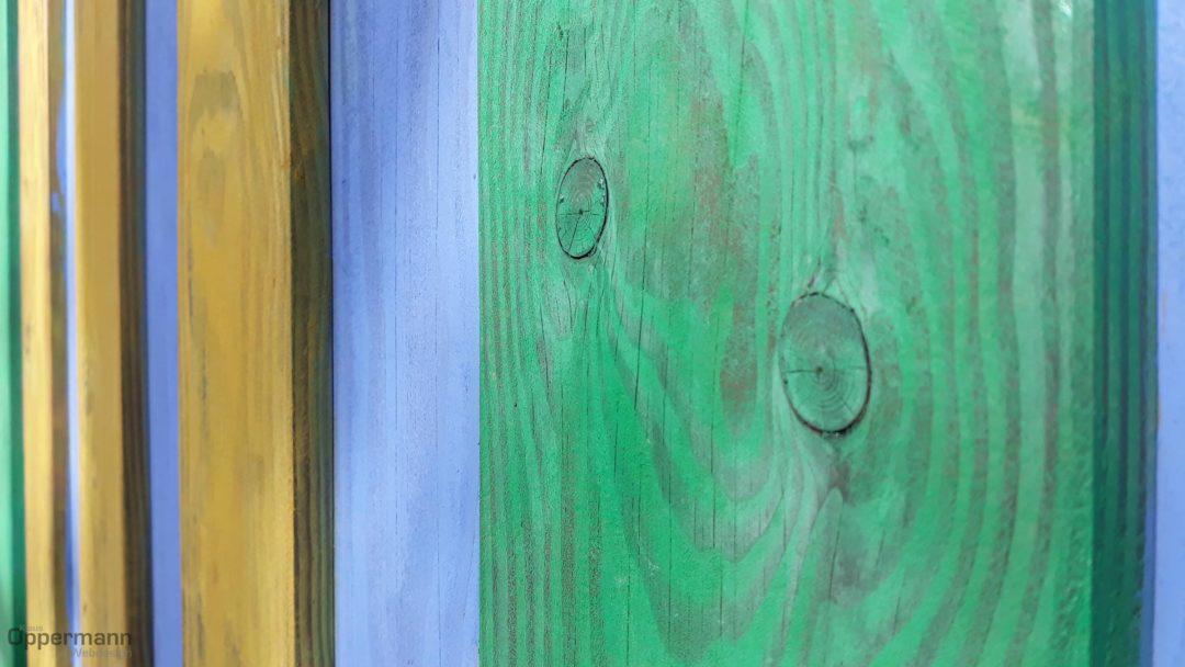 Buntes Holz Farbenfroh