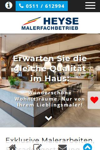 Maler Heyse Hannover Malerbetrieb Homepage Webdesign Wordpress 320x480 1