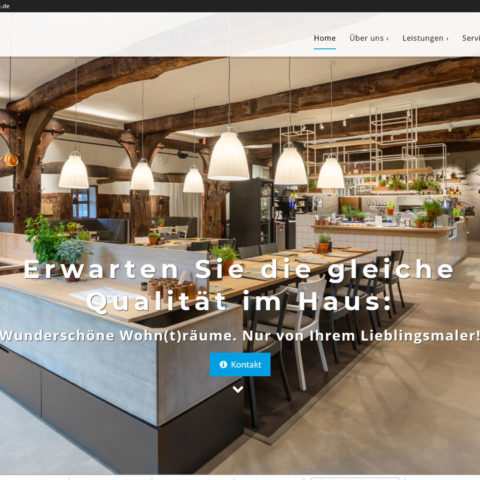 Maler Heyse Hannover Malerbetrieb Homepage Webdesign Wordpress
