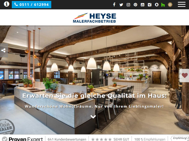 Maler Heyse Hannover Malerbetrieb Homepage Webdesign Wordpress 800x600 1