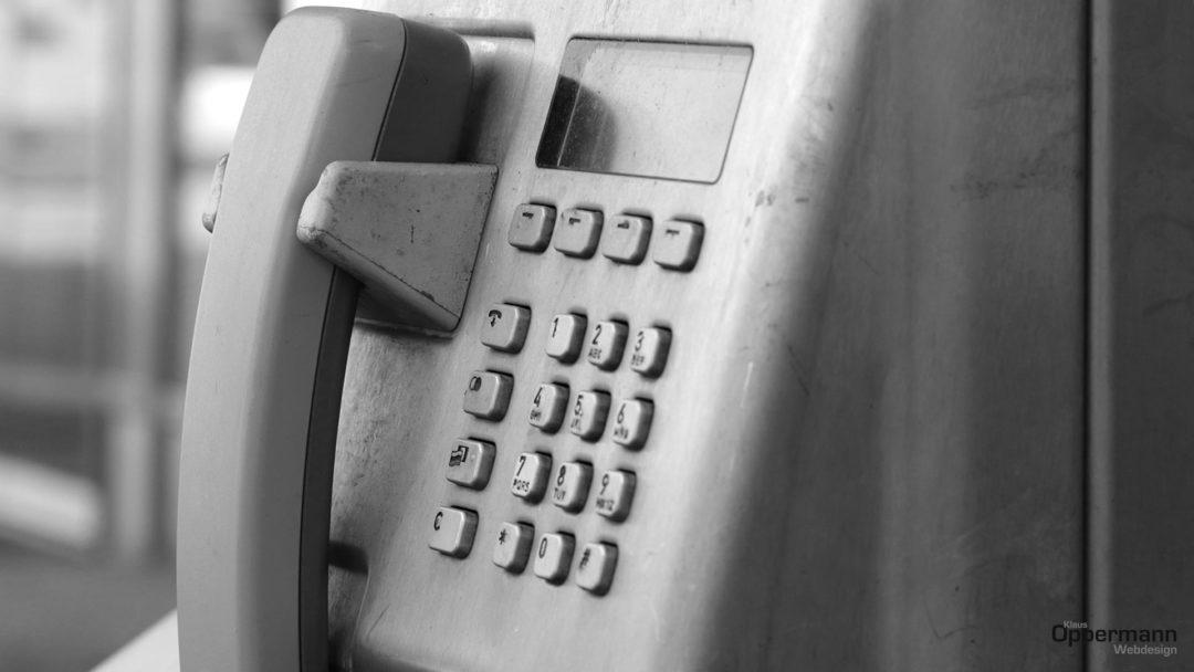 Telefonhoerer dreckig