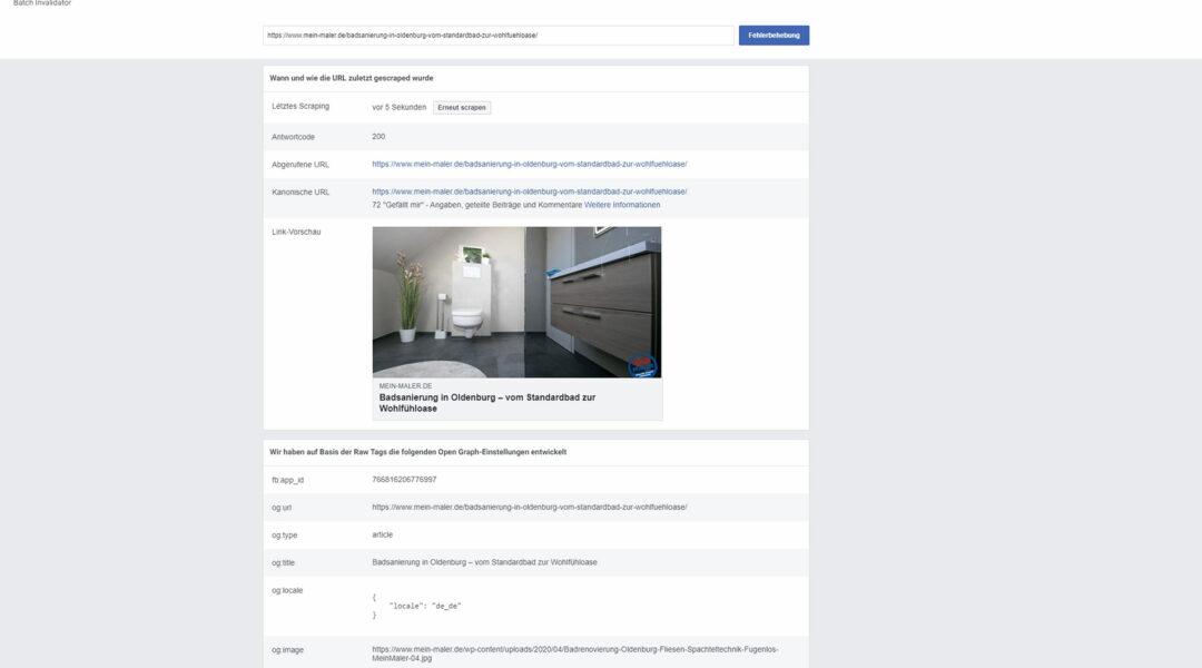 Open Graph Object Debugger Facebook