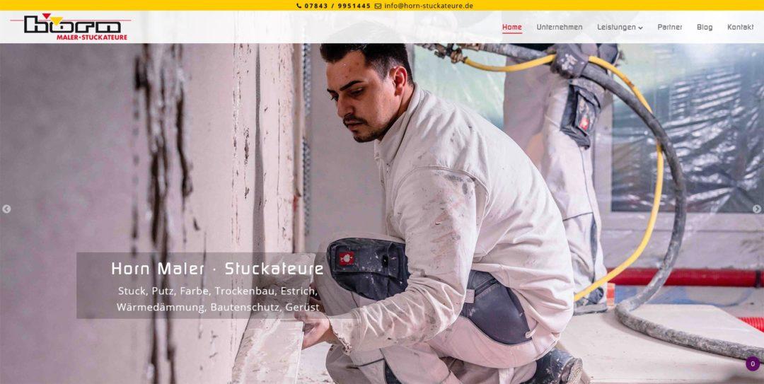 Webdesign Maler Stuckateurfachbetrieb Horn Renchen Schwarzwald