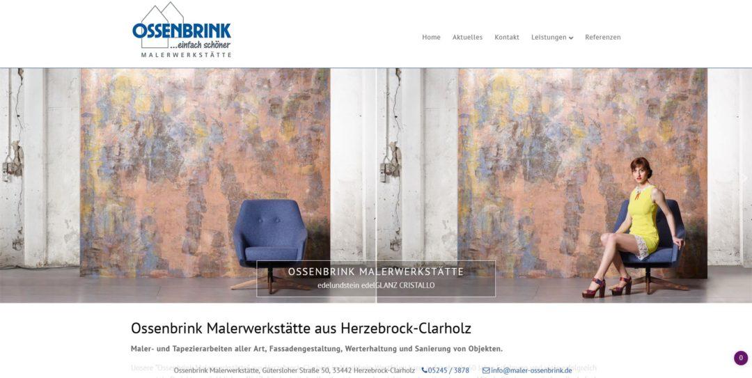 Webdesign Ossenbrink Malerwerkstaette Malerfachbetrieb in Herzebrock
