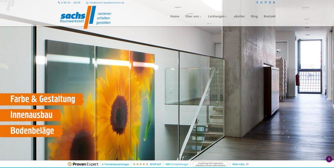 Webdesign Sachs Baudekoration Malerfachbetrieb Lauterbach Fulda Giessen.