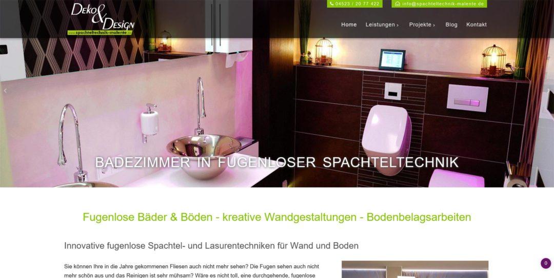 Webdesign Spachteltechnik Malente Fugenloses Bad Wandgestaltungen Betonoptik Bodenbelaege.