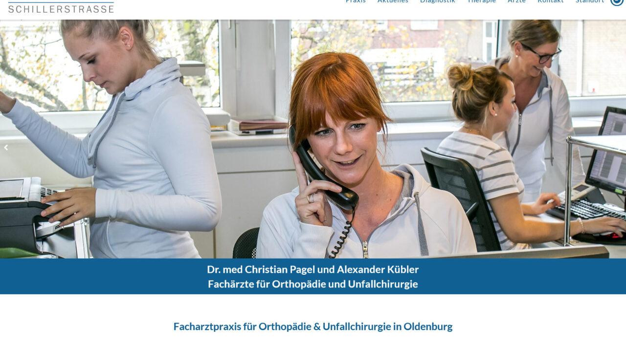 Webdesign Facharztpraxis fuer Orthopaedie in Oldenburg