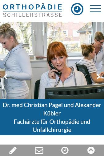 Webdesign Facharztpraxis fuer Orthopaedie in Oldenburg Tablet