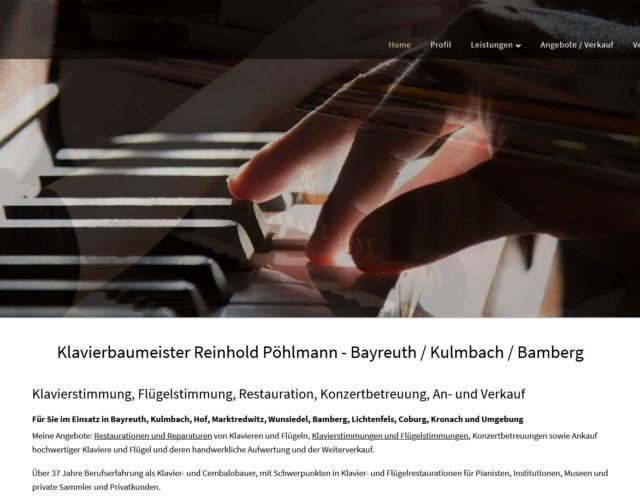 Webdesign Klavier und Cembalobaumeister Reinhold Poehlmann Bayreuth Landkreis Kulmbach Oberfranken