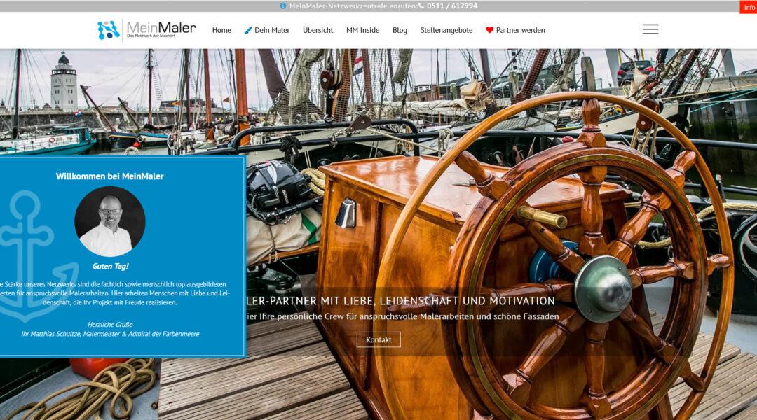Webdesign MeinMaler Partnernetzwerk Malerfachbetriebe Lieblingsmaler