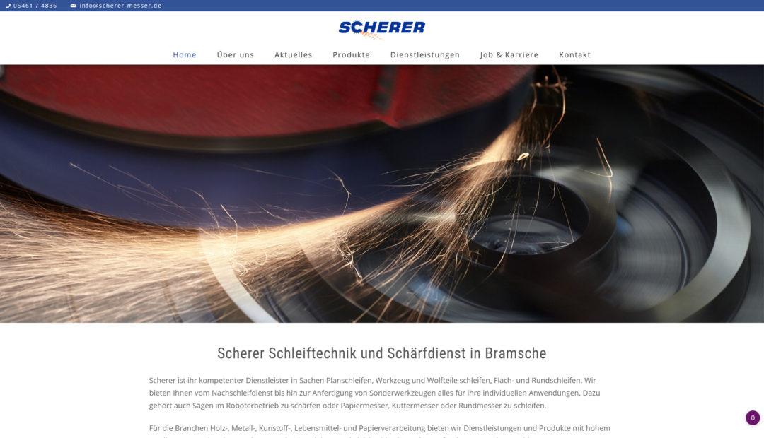 Webdesign Scherer Schleiftechnik und Schaerfdienst in Bramsche1